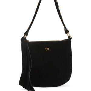ERIC JAVITS VELINA Velvet Shoulder Bag $450